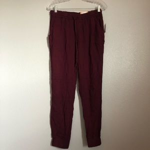 NWT Mudd Burgundy Jogger Pants Junior's Small